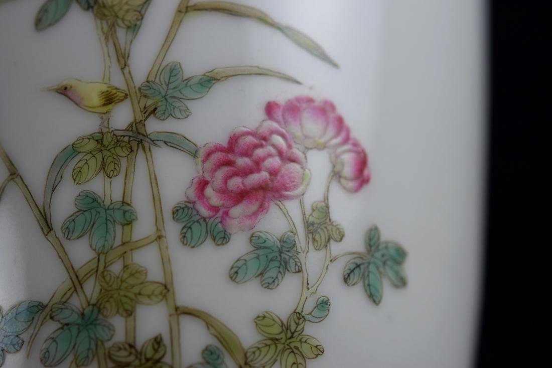 Chinese Porcelain Vase with Duck and Peony - 10