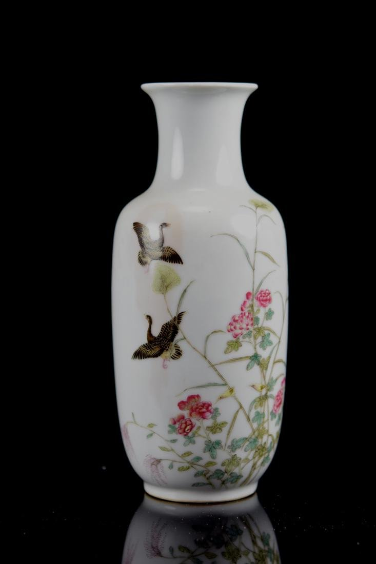 Chinese Porcelain Vase with Duck and Peony