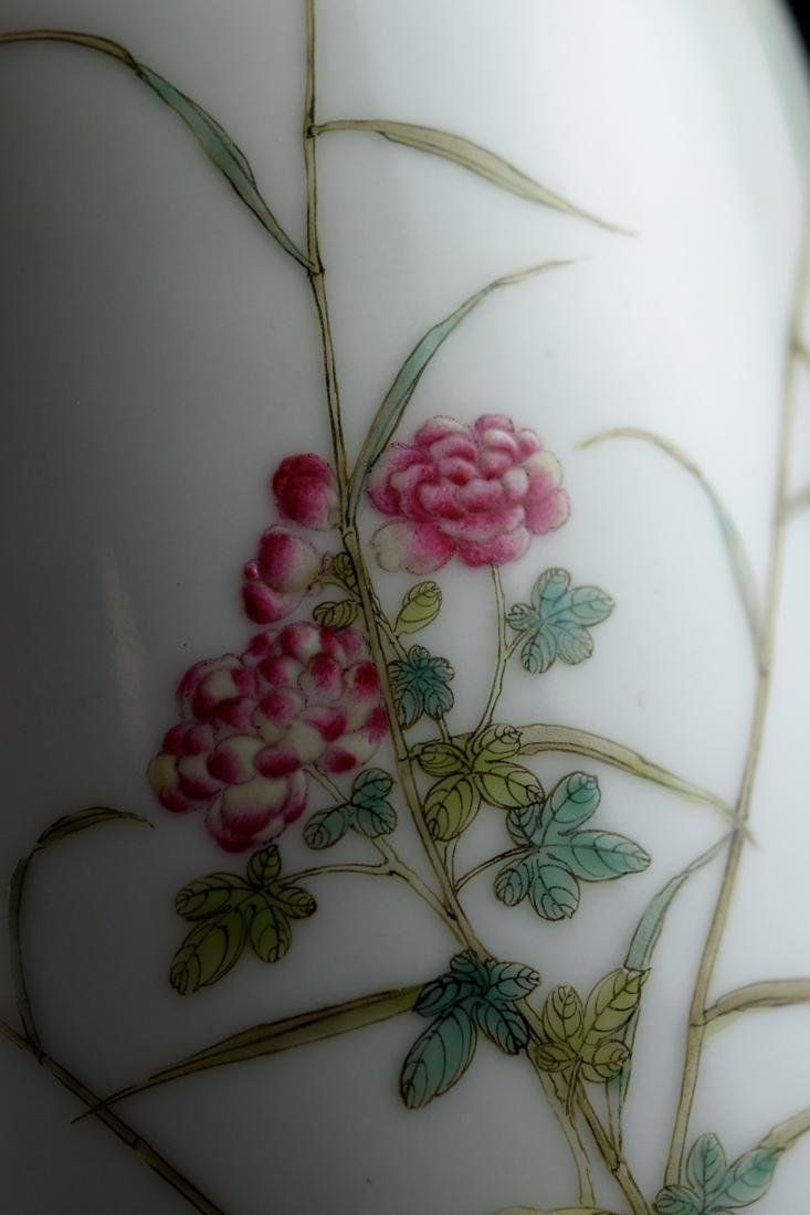 Chinese Porcelain Vase with Duck and Peony - 2