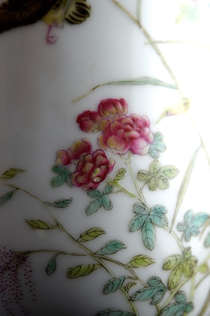 Chinese Porcelain Vase with Duck and Peony - 5