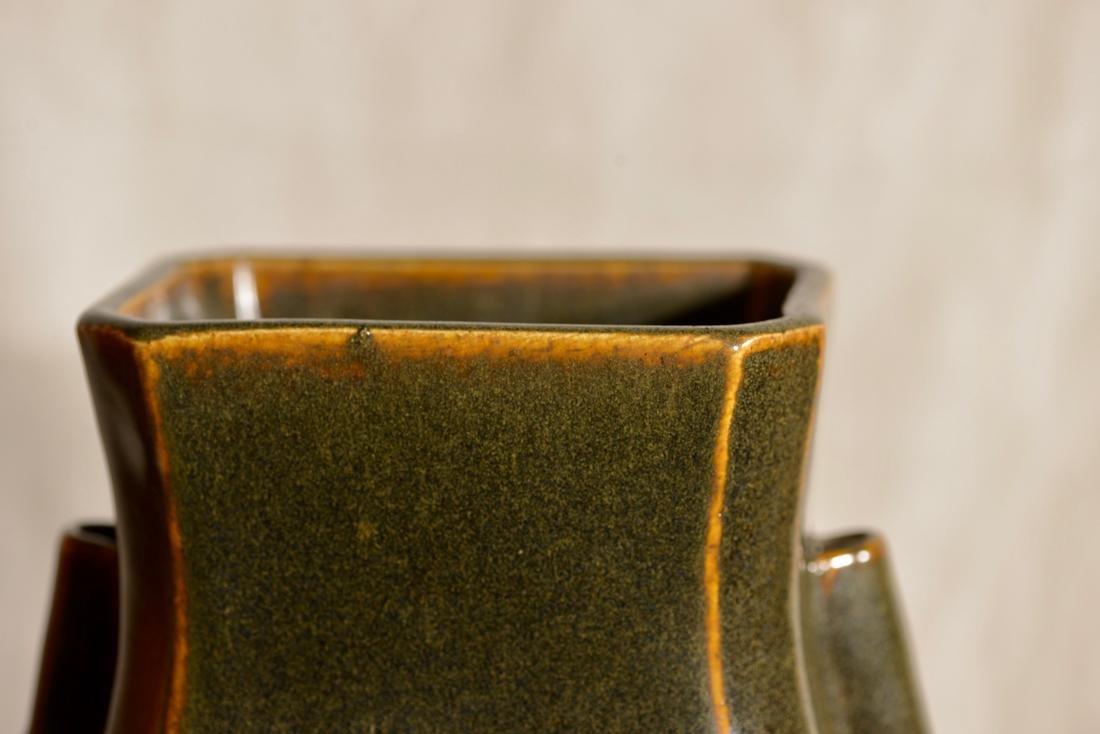 Chinese Teadust Fanghu Porcelain Vase - 3