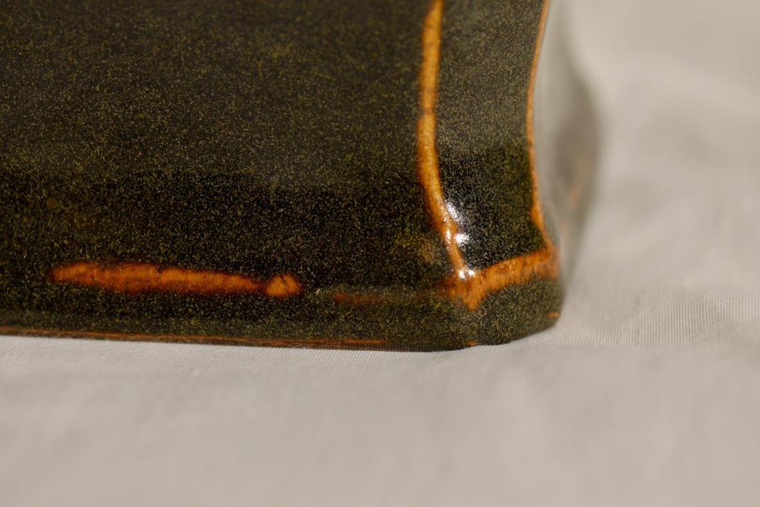 Chinese Teadust Fanghu Porcelain Vase - 4
