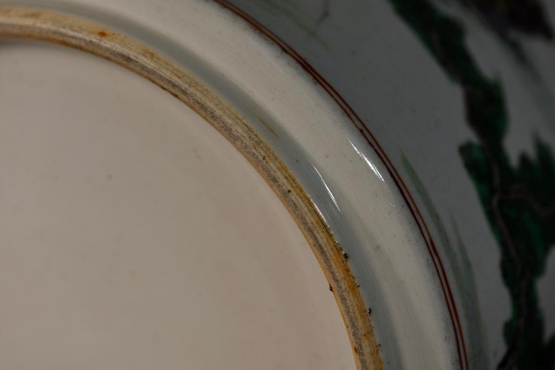 Chinese Famille Verte Porcelain Brushpot - 8