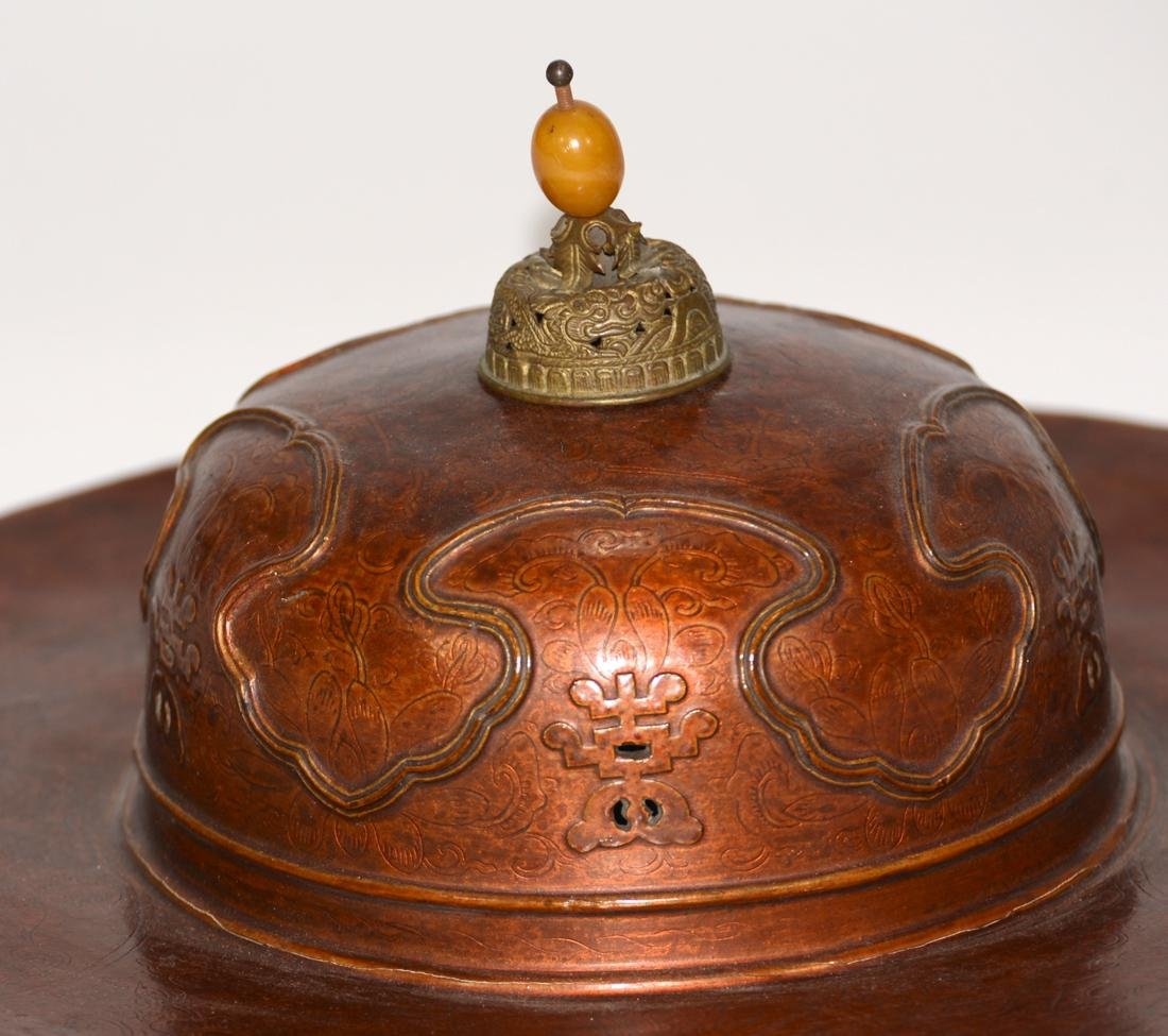 Unusual Chinese Imperial Kangxi Lacquer Hat - 4