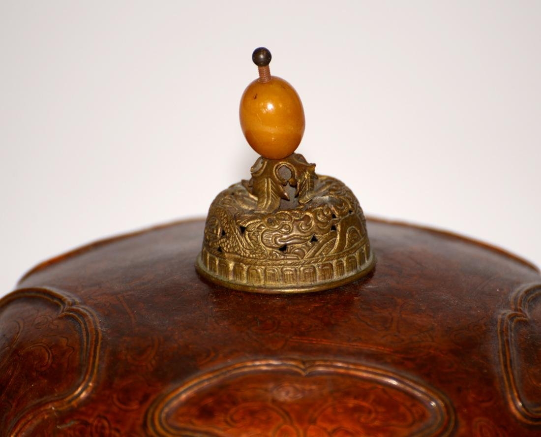 Unusual Chinese Imperial Kangxi Lacquer Hat - 6