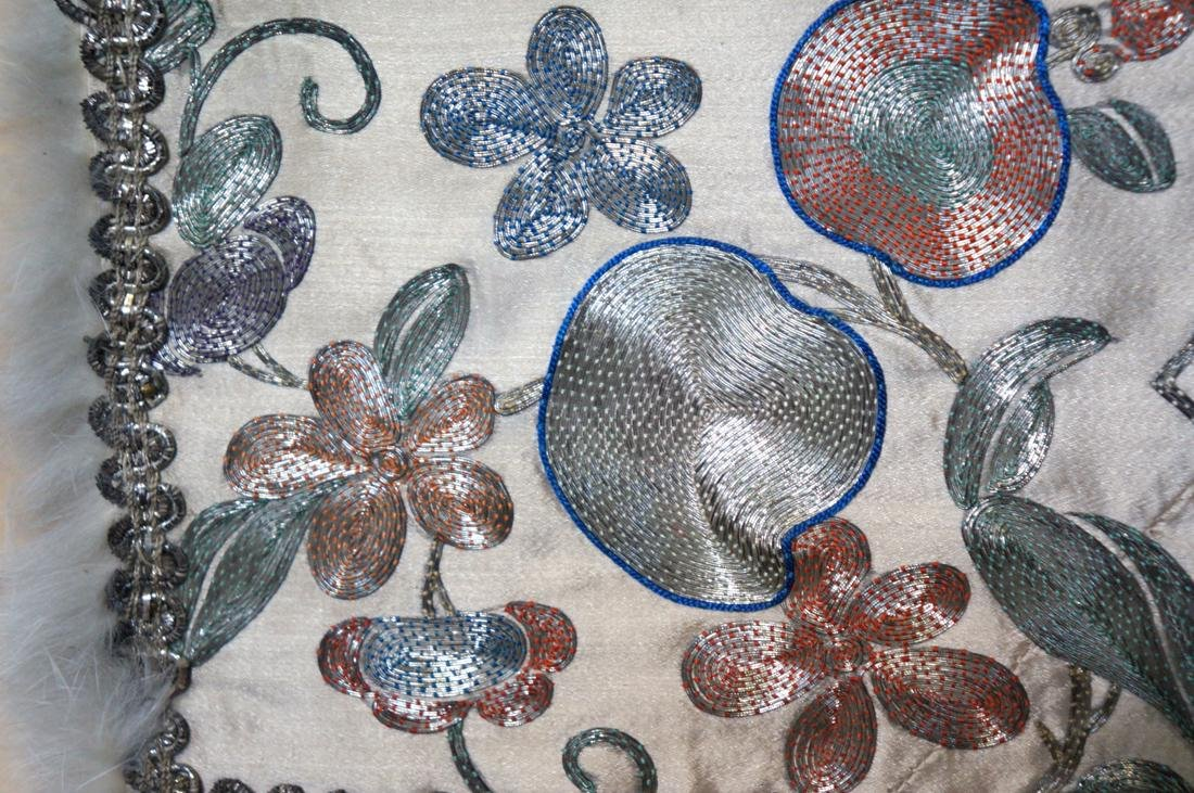 Chinese Embroidery of Owl and Cats Scene - 8