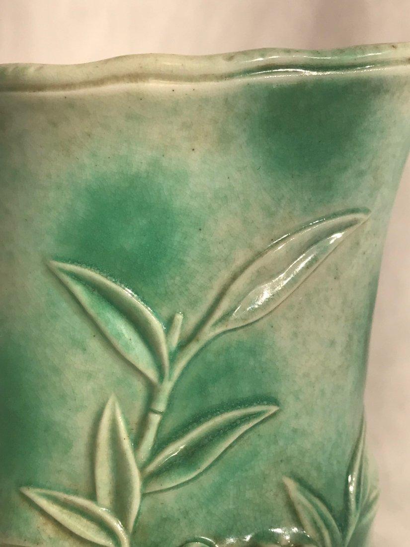 Chinese Porcelain brush pot with lotus motif - 2