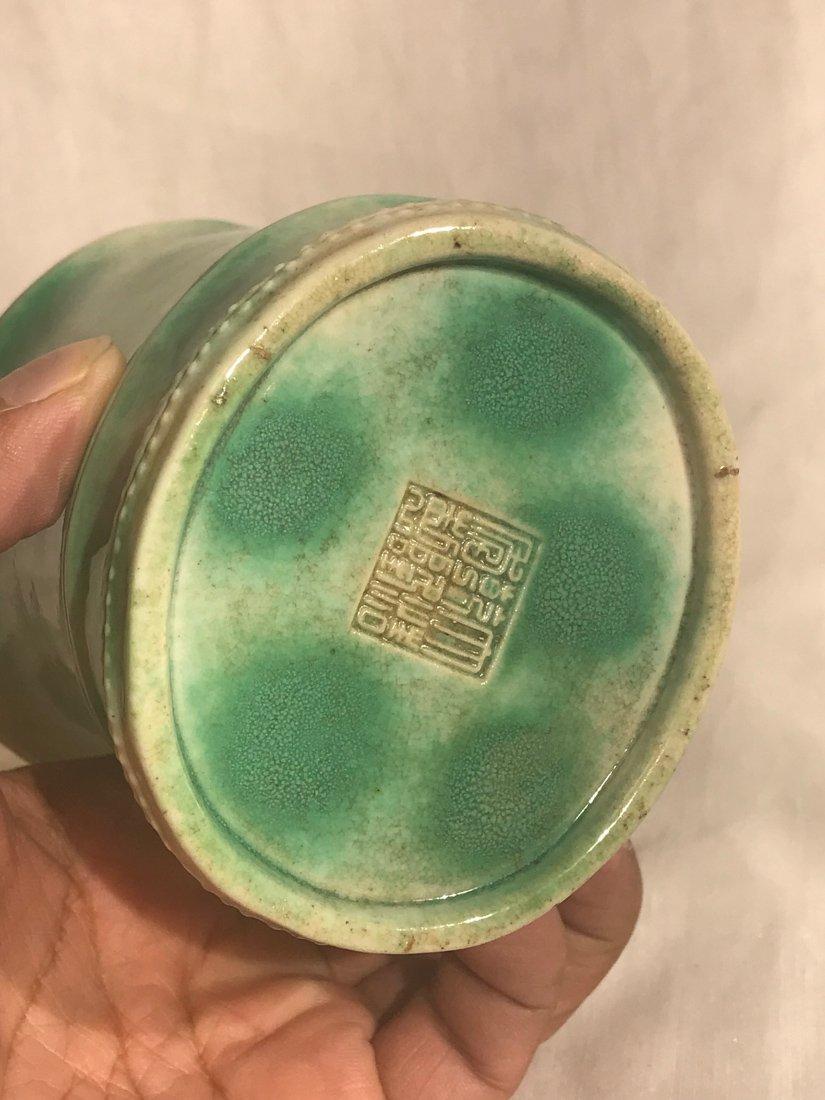 Chinese Porcelain brush pot with lotus motif - 7