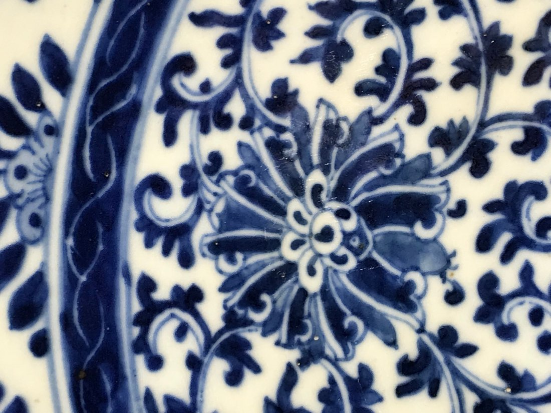 Chinese blue white porcelain charger with kangxi mark - 3