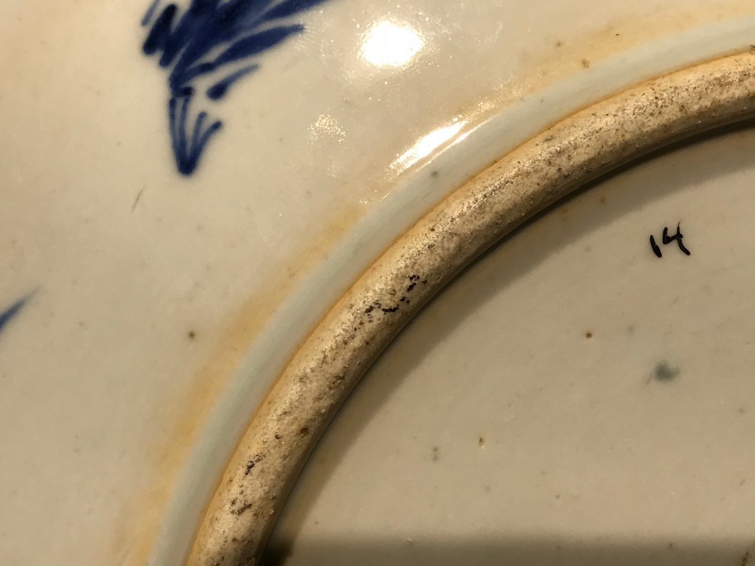Chinese blue white porcelain charger with kangxi mark - 8