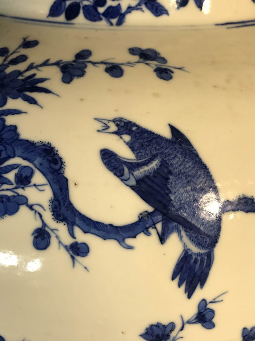 Chinese blue white porcelain jar with wood cover - 5