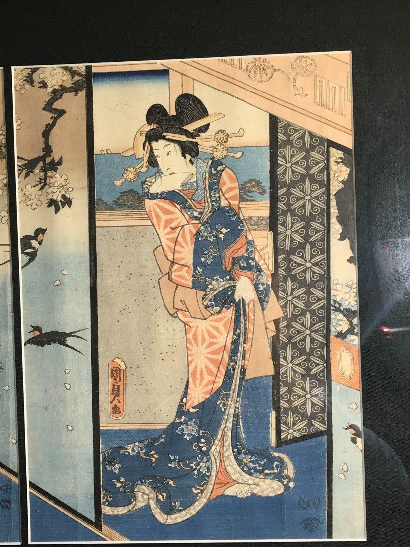Japanese wood block print group - 2