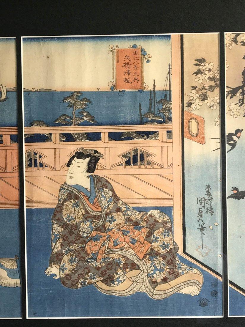 Japanese wood block print group - 3
