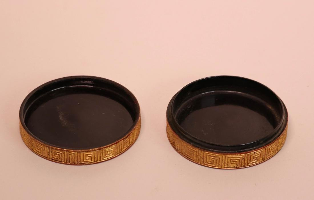 Chinese Lacquer Box with Gold Peony - 5