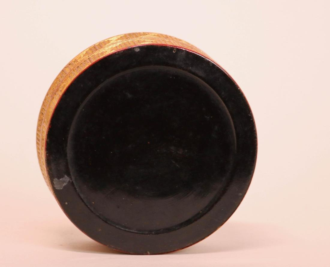 Chinese Lacquer Box with Gold Peony - 6