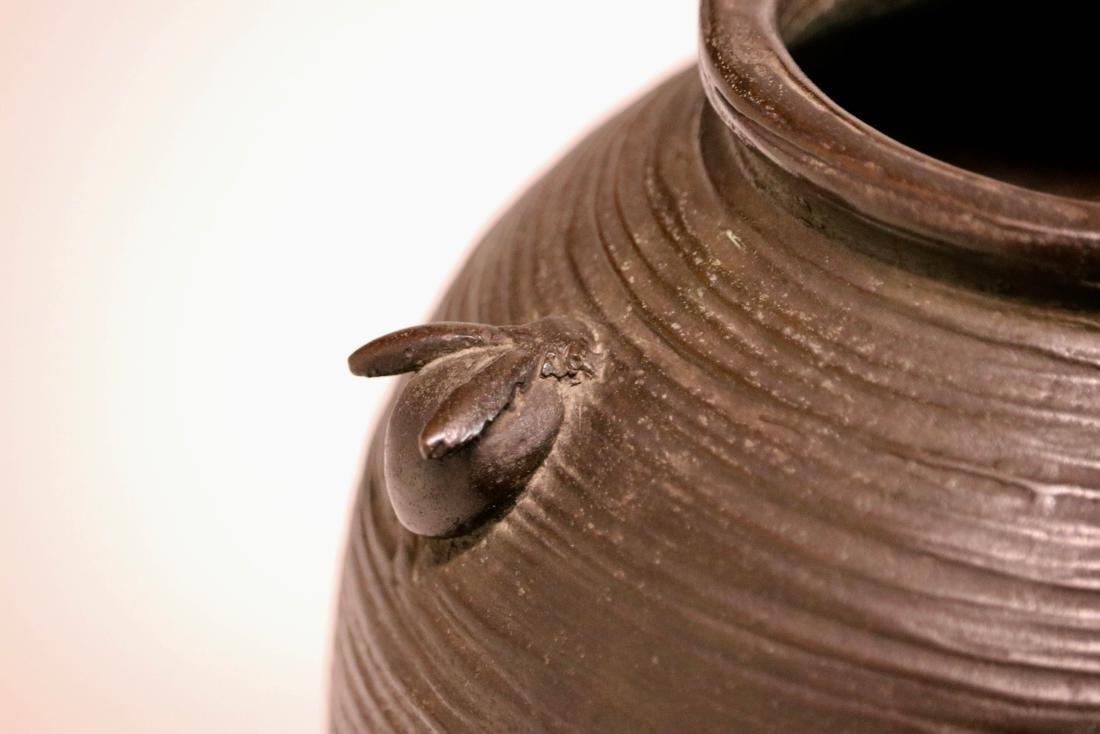 Japanese Bronze Vase with Rabbits - 5