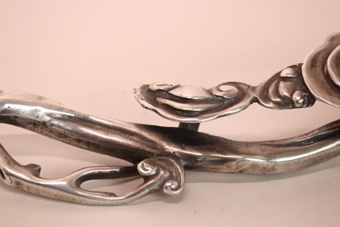 Japanese Silver Ruyi Scepter by Zuloko - 3