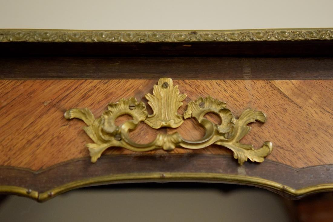 Chinese Porcelain Plaque on French Gilt Bronze Table - 2