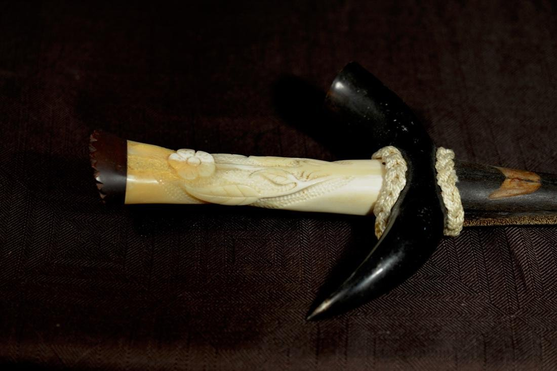 Unusual Sword Fish Dagger Sword with Horn Handle - 7
