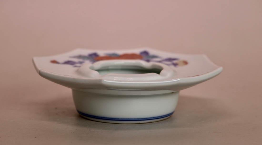 Japanese Kakeimon Porcelain Smoking Tray Set with Box - 3