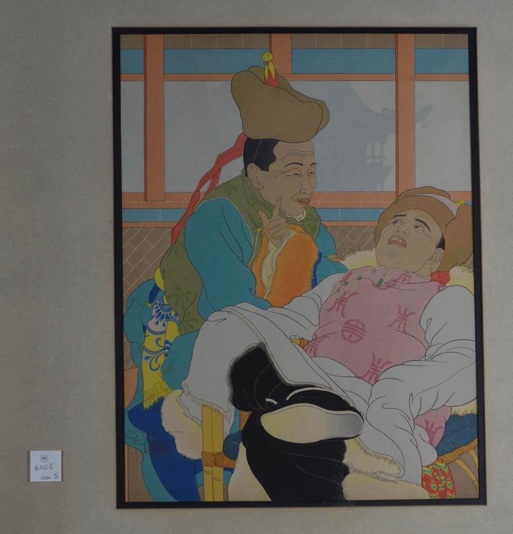 Japanese Wood Block Print - Paul Jacoulet