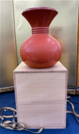 Japanese Red Lacquer Vase with Box