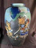 Stunning Japanese studio pottery vase by Shoji