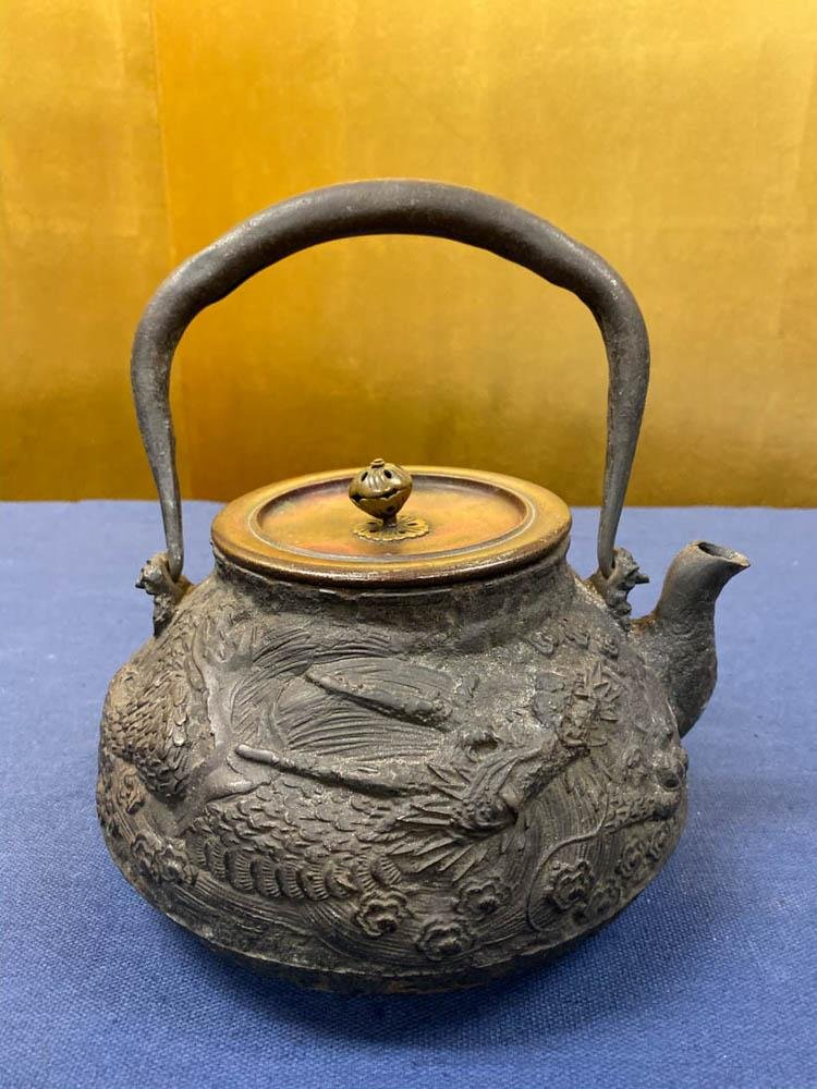 Japanese Iron Teapot - Dragon