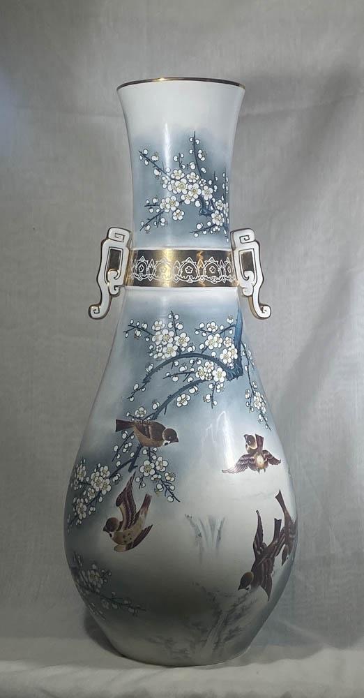 Large Chinese Porcelain Vase - Bird on Plum Tree