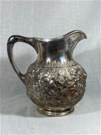 Kirk and son, sterling silver water pitcher