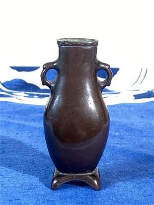Chinese Miniture Bronze Vase - Scholar Incense