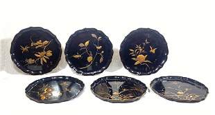 Fine Set of Japanese Meiji Period Lacquer Dishes