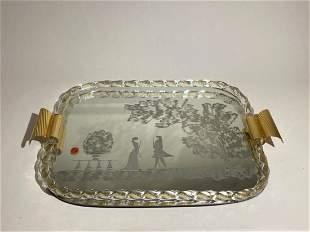 Italy Murano Art Glass Tray