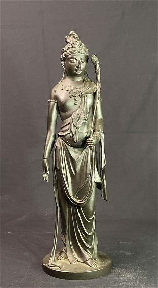 Japanese Bronze Model of Kuanyin