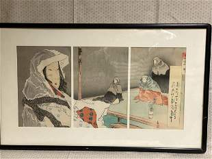 Japanese Wood Block Print - Women