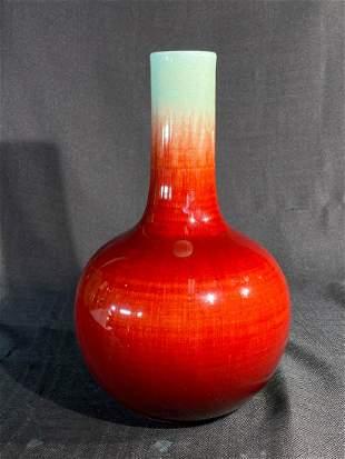 Chinese Oxblood Porcelain Tianchun Vase