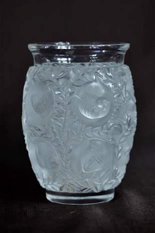 Lalique Crystal Vase - Birds