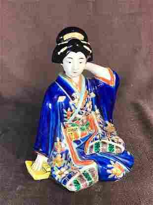 Japanese Imari Porcelain Seated Beiji