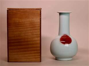 Japanese Meiji Period Studio Porcelain Vase - Taguchi