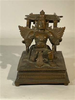 17th cen Indian Bronze Statue