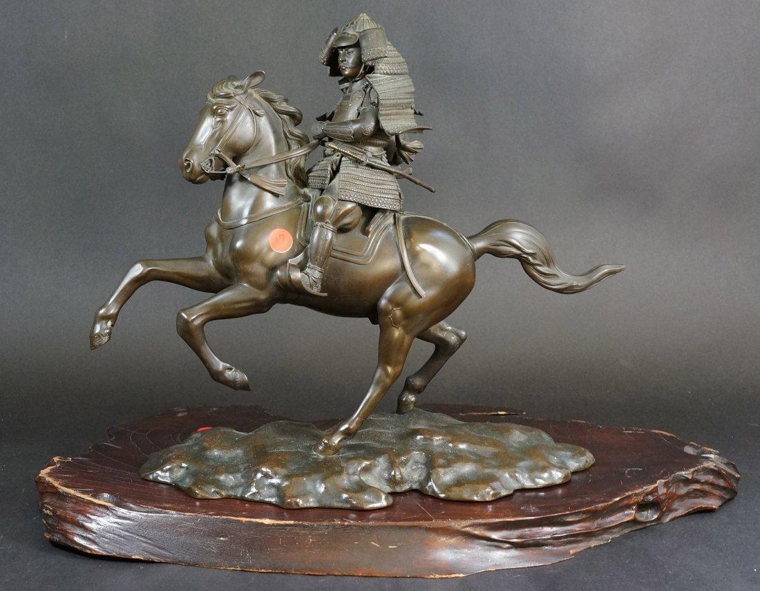 17: Important Japanese Bronze Samurai Warrior