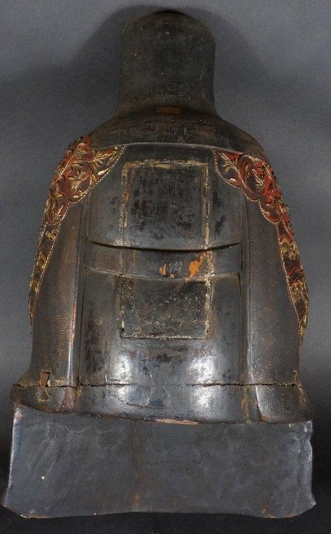 96: Chinese Lacquered Wood Guandi - 10