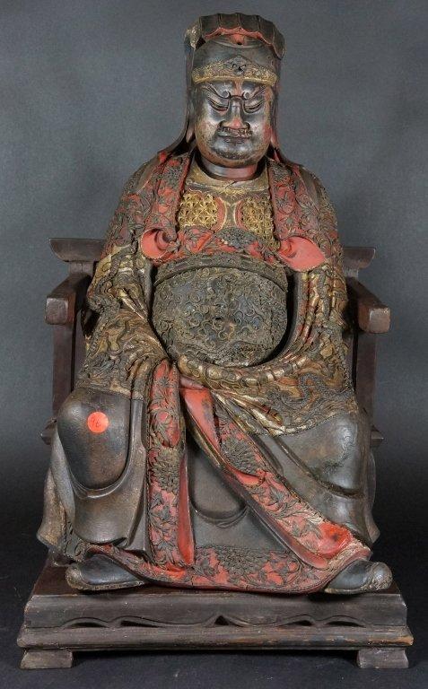 96: Chinese Lacquered Wood Guandi