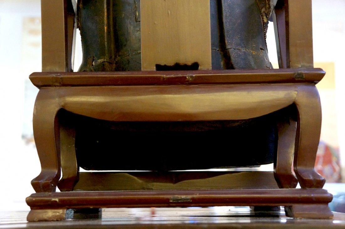 96: Chinese Lacquered Wood Guandi - 2