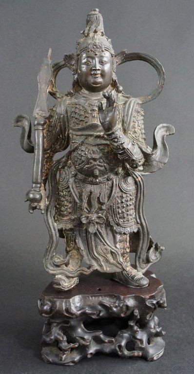 195: Fine Chinese Ming Bronze Warrior