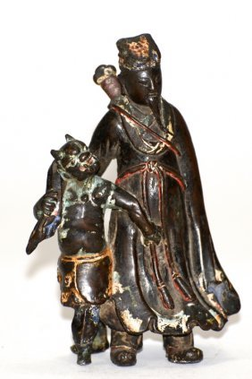 Chinese Ming Bronze Figural Group