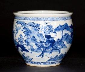 Chinese Blue White Porcelain Fish Bowl