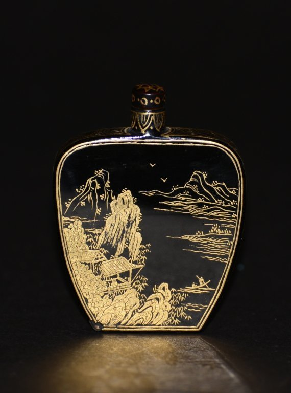 Chinese Lacquer Snuff Bottle