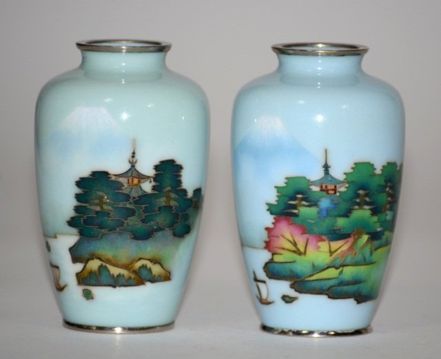 Japanese Wire-wireless Cloisonne Vases