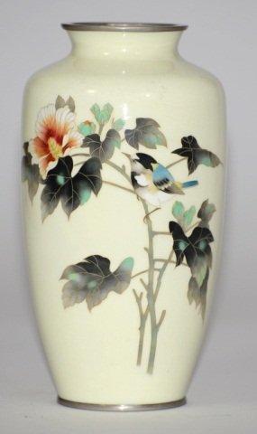 Japanese Cloisonne Peony Vase